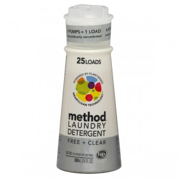 Method Concentrate Liquid Laundry Detergent HE Free & Clear Pump