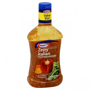 Kraft Salad Dressing Zesty Italian