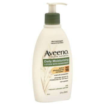 Aveeno Daily Moisturizing Lotion with Sunscreen SPF 15 & Oatmeal Pump