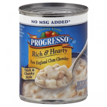 Progresso Rich & Hearty Soup New England Clam Chowder