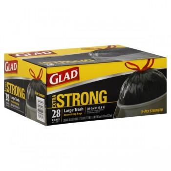 Glad Drawstring Outdoor Trash Bags 30 Gallon