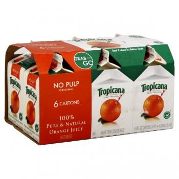 Tropicana Pure Premium 100% Pure Orange Juice Pulp Free - 6 pk