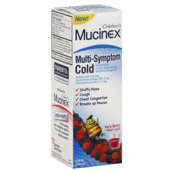 Mucinex Cold Multi-Symp Expectorant/Suppress Nasal Decongestant Very Berry