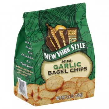 New York Style Bagel Chips Roasted Garlic Mini