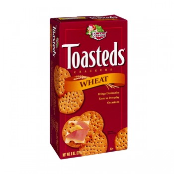Keebler Toasteds Crackers Wheat