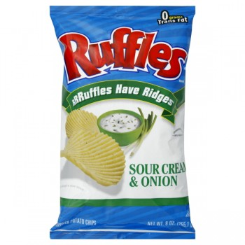 Ruffles Potato Chips Sour Cream & Onion