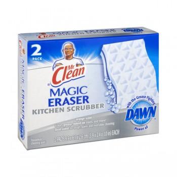 Mr. Clean Magic Eraser Kitchen Scrubber Orange Scent