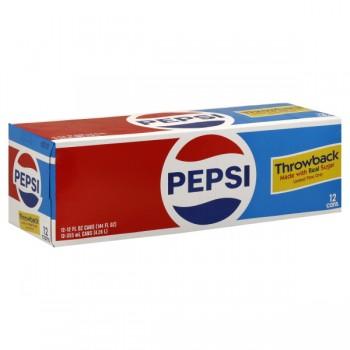 Pepsi Cola Throwback - 12 pk
