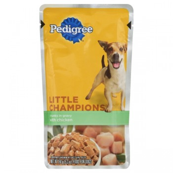 Pedigree Little Champions Wet Dog Food Chunks in Gravy with Chicken