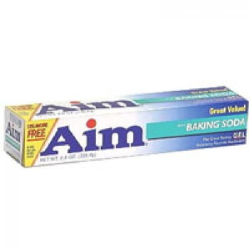 Aim Whitening Toothpaste with Baking Soda Mint Gel
