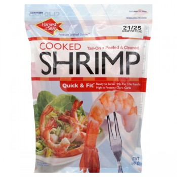 Harvest Of The Sea Shrimp Tail-On Cooked Jumbo - 21-25 ct Frozen