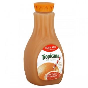 Tropicana Pure Premium 100% Pure Ruby Red Grapefruit Juice Some Pulp