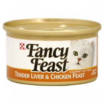 Fancy Feast Wet Cat Food Gourmet Liver & Chicken Feast