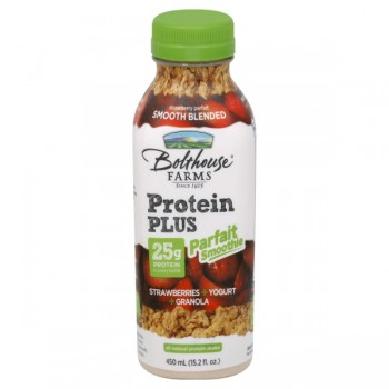 Bolthouse Farms Protein Plus Parfait Smoothie Strawberries Yogurt Granola