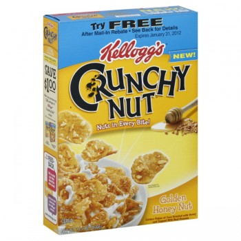 Kellogg's Crunchy Nut Cereal Golden Honey Nut Flakes