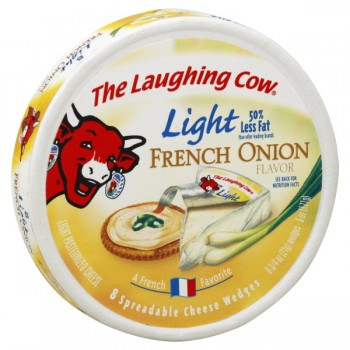 The Laughing Cow Cheese Light French Onion Wedges - 8 ct