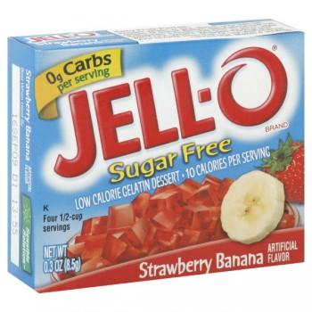 Jell-O Gelatin Dessert Strawberry Banana Sugar Free