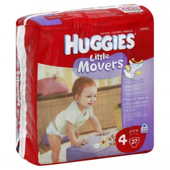 Huggies Little Movers Diapers Size 4 Both Jumbo Pack - 22-37 lbs