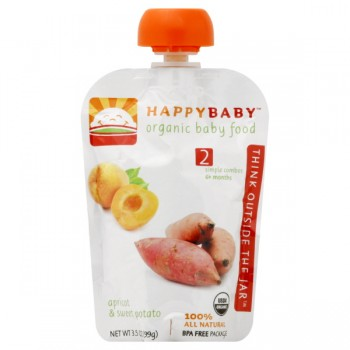 HAPPYBABY Stage 2 Baby Food Apricot & Sweet Potato Organic
