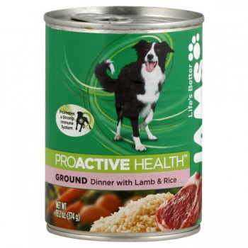 Iams ProActive Health Wet Dog Food Ground Dinner with Lamb & Rice
