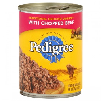 Pedigree Traditional Ground Dinner Wet Dog Food Chopped Beef