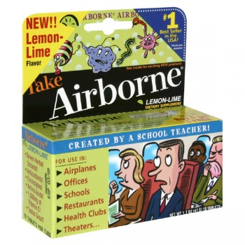 Airborne Effervescent Health Formula Dietary Supplement Lemon-Lime Tablets
