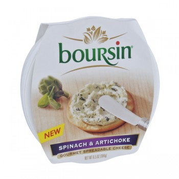 Boursin Gourmet Spreadable Cheese Spinach & Artichoke