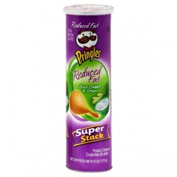 Pringles Potato Crisps Reduced Fat Sour Cream & Onion