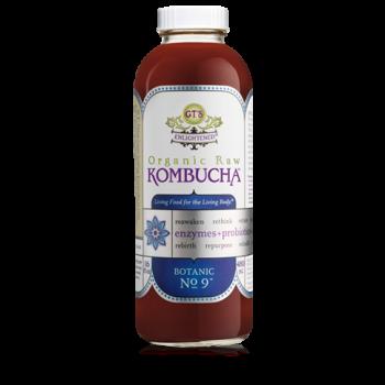 GT'S Enlightened Botanic No 9 Kombucha Drink Raw Organic