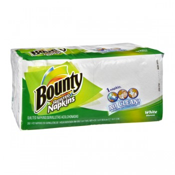 Bounty Napkins Quilted 1-Ply White