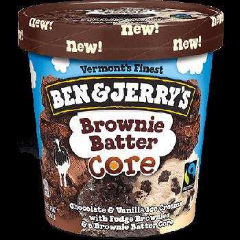 Ben & Jerry's Ice Cream Brownie Batter Core