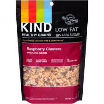 KIND Heathy Grains Raspberry Clusters with Chia Seeds