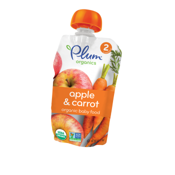 Plum Organic's Second Blends Apple & Carrot
