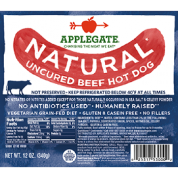 Applegate Natural Uncured Beef Hot Dog