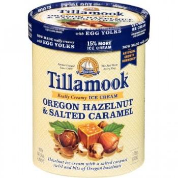 Tillamook Ice Cream Oregon Hazelnut and Salted Caramel