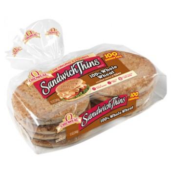 Oroweat Sandwich Thins 100% Whole Wheat - 8 ct