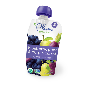 Plum Organic's Second Blends Blueberry, Pear & Purple Carrot
