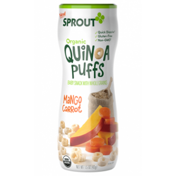 Sprout Organic Baby Food Stage 2 Mango Carrot Quinoa Puffs