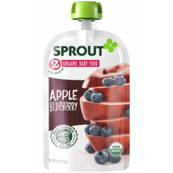 Sprout Organic Baby Food Stage 2 Apple & Blueberry