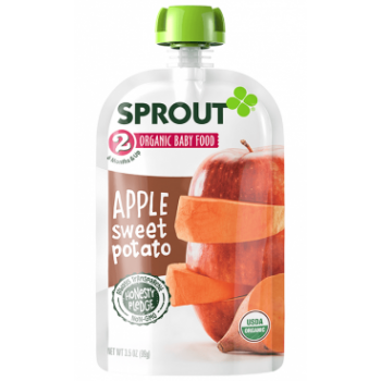 Sprout Organic Baby Food Stage 2 Apple Sweet Potato
