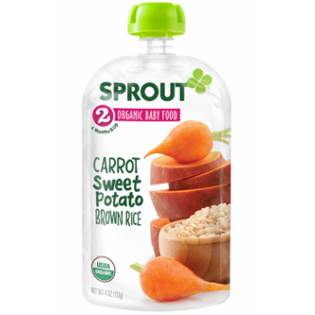 Sprout Organic Baby Food Stage 2 Carrot, Sweet Potato & Brown Rice