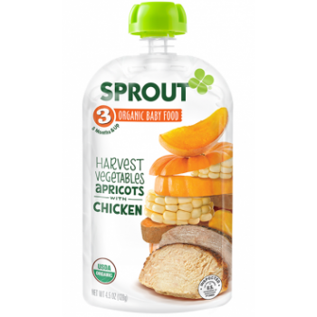 Sprout Organic Baby Food Stage 3 Harvest Vegetables & Apricot with Chicken