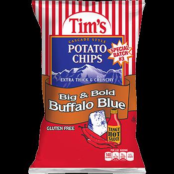 Tim's Cascade Snacks Potato Chips Big and Bold Buffalo Blue