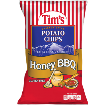 Tim's Cascade Snacks Potato Chips Honey BBQ