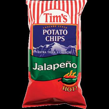 Tim's Cascade Snacks Potato Chips Jalapeno
