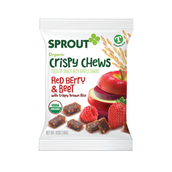 Sprout Organic Toddler Snack Red Berry & Beet Crispy Chews