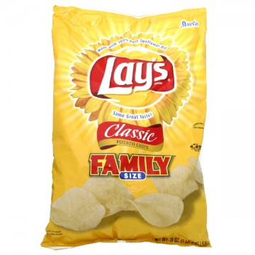 lays potato chips lay s potato chips classic family size 28794