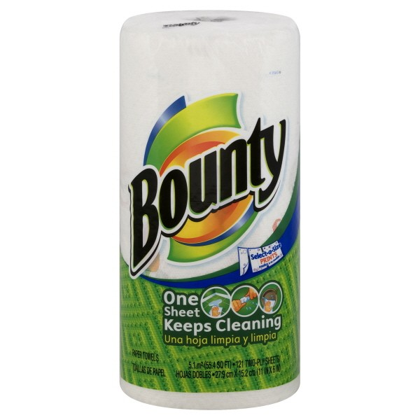 bounty paper towels bounty select a size paper towels assorted prints 31051