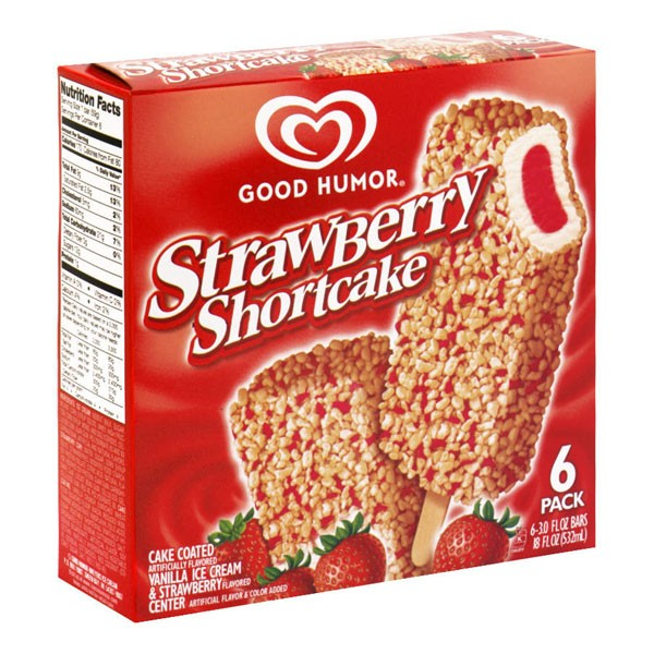 Good Humor Ice Cream Bars Strawberry Shortcake 6 Ct