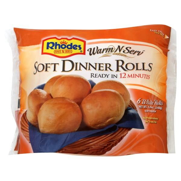 Rhodes Warm N Serv Rolls Dinner White 6 Ct Frozen